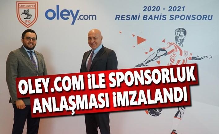 Samsunspor, oley.com ile sponsorluk anlaşması imzaladı