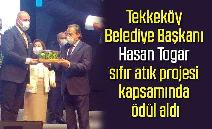 Tekkeköy Belediye Başkanı Hasan Togar'a proje ödülü