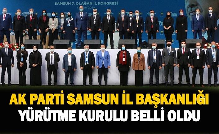 AK Parti Samsun İl Yürütme Kurulu belli oldu, AK Parti Samsun İl Başkan Yardımcıları açıklandı