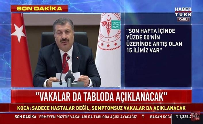 Bakan Koca: Samsun'da koronavirüs vakalarında yüzde 50 ile 100 arasında artış oldu