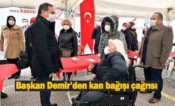 Başkan Demir'den kan bağışı çağrısı - Samsun Haber