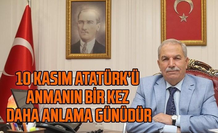 Başkan Necattin Demirtaş'tan 10 Kasım mesajı