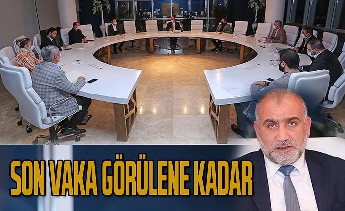 Canik Belediyesi'nde koronavirüs toplantısı