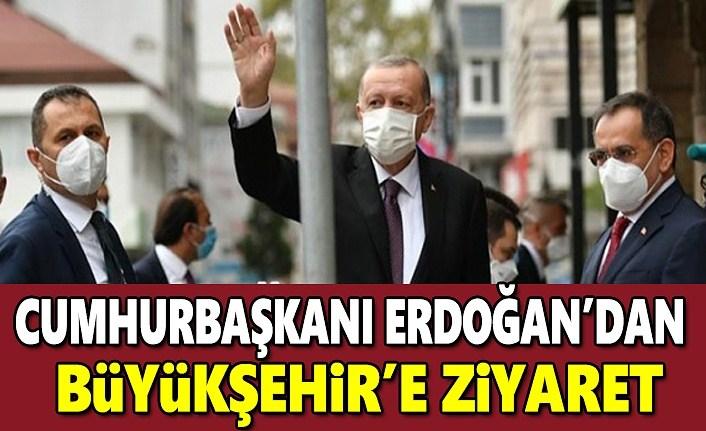 Cumhurbaşkanı Erdoğan, Samsun Büyükşehir'i ziyaret etti