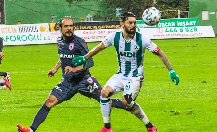 Giresunspor Samsunspor maç sonucu : 0-0