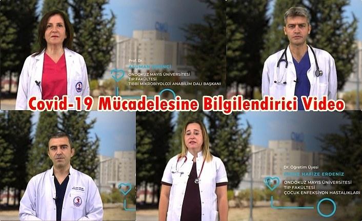 OMÜ Tıp Fakültesi Covid-19 Mücadelesine Bilgilendirici Videolarla Destek Veriyor