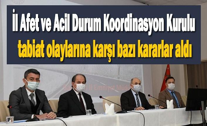 Samsun'da tabiat olaylarına karşı bazı kararlar aldı - Samsun Haber