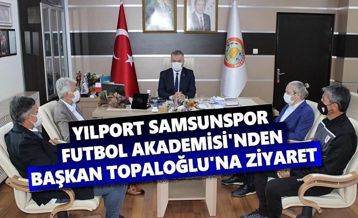 Samsunspor Futbol Akademisi'nden Başkan Topaloğlu'na ziyaret