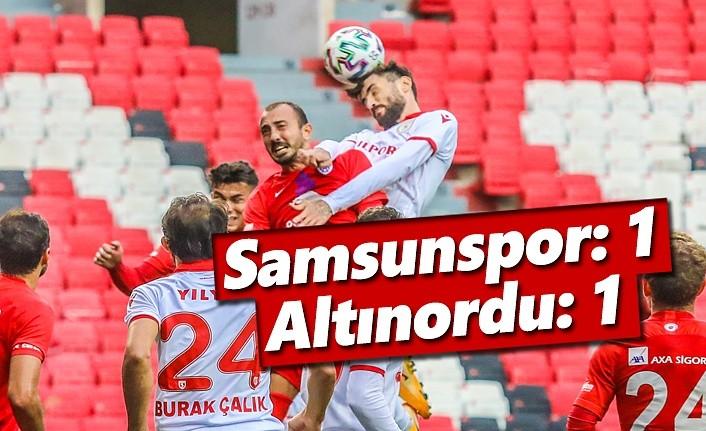Yılport Samsunspor: 1 – Altınordu: 1