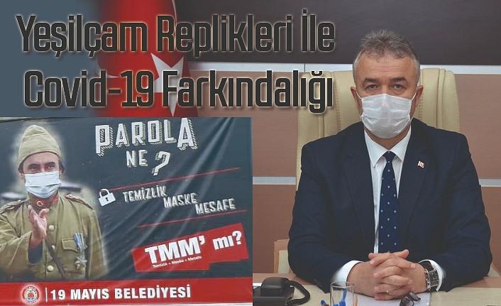 19 Mayıs Belediyesi'nden Yeşilçam Replikli Covid-19 Farkındalığı