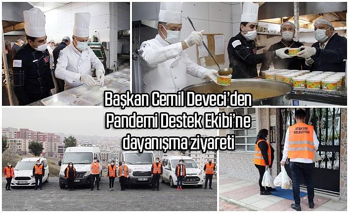 Atakum'da 36 günde 1373 hane ve 3790 hastaya yemek desteği