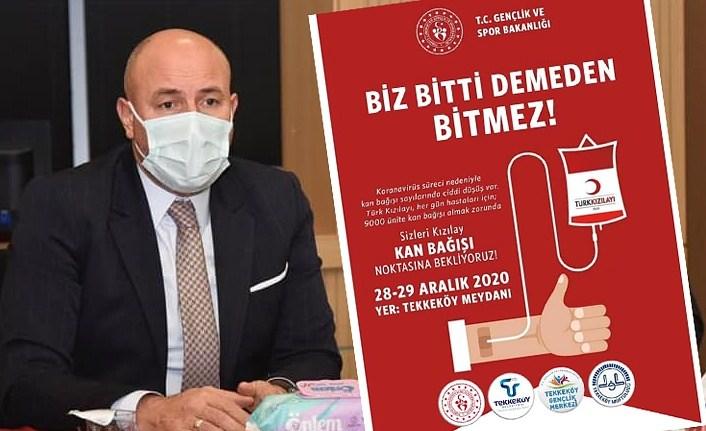Başkan Hasan Togar'dan kan bağışına davet