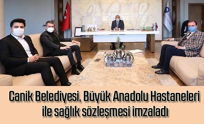 Canik Belediyesi, Büyük Anadolu Hastaneleri ile sağlık sözleşmesi imzaladı