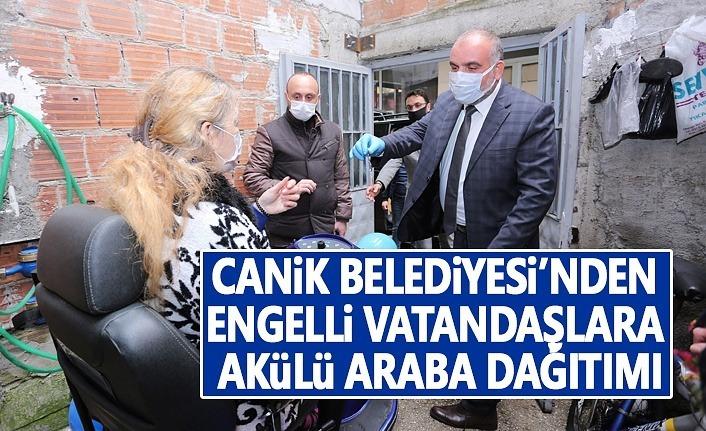 Canik Belediyesi Engelli Vatandaşlara Akülü araba dağıttı