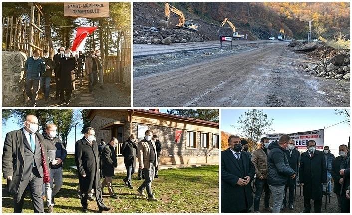 Canik Gürgenyatak Mahallesi'ndeki yol yapımı devam ediyor