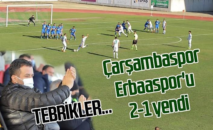 Çarşambaspor Erbaaspor'u 2-1 yenerek hedefine doğru emin adımlarla ilerliyor