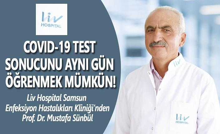 Covid-19 Test sonucunu aynı gün öğrenmek mümkün!