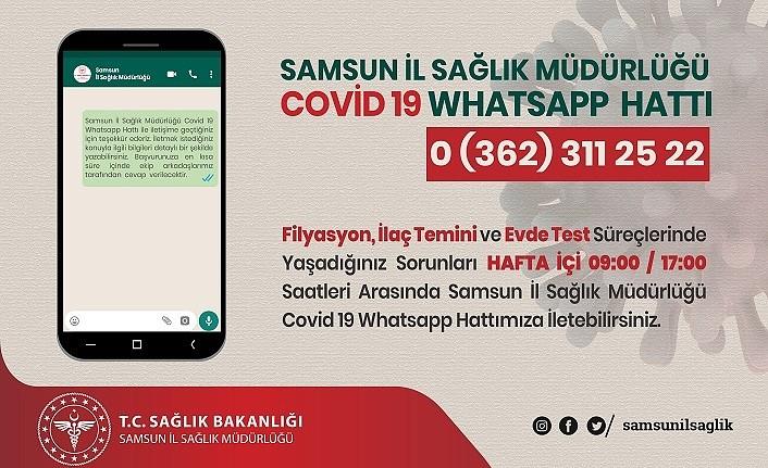 Covid-19 Whatsapp Hattı Hizmete girdi - Samsun Haber