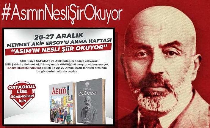 Mehmet Akif Ersoy'u Anma Haftasında Asım'ın Nesli Şiir Okuyor