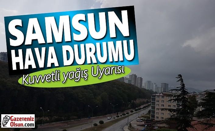 Samsun'a kuvvetli yağış uyarısı, 16 Aralık Samsun Hava Durumu