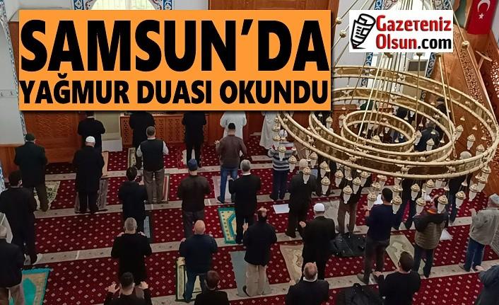 Samsun'da Cuma Namazı sonrası Yağmur Duası edildi