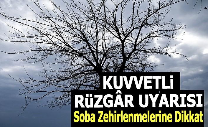 Samsun'da Fırtına Uyarısı, Soba zehirlenmelerine dikkat!