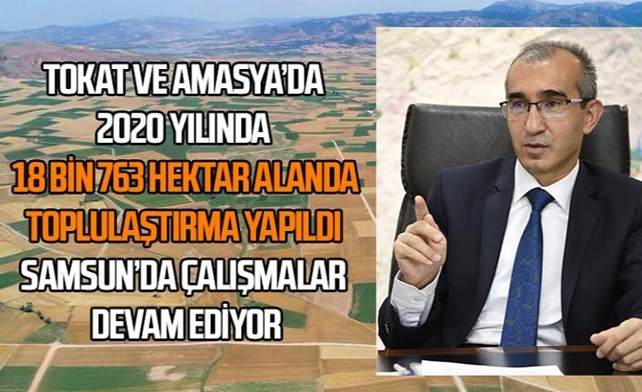 Samsun'da toplulaştırma çalışmaları devam ediyor