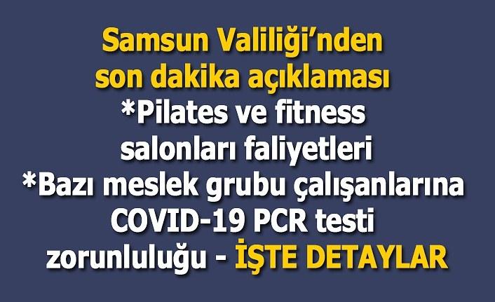 Samsun Valiliği yeni alınan kararları açıkladı - Pilates ve fitness salonları