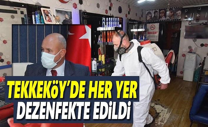 Tekkeköy'de koronavirüs çalışmaları aralıksız devam ediyor