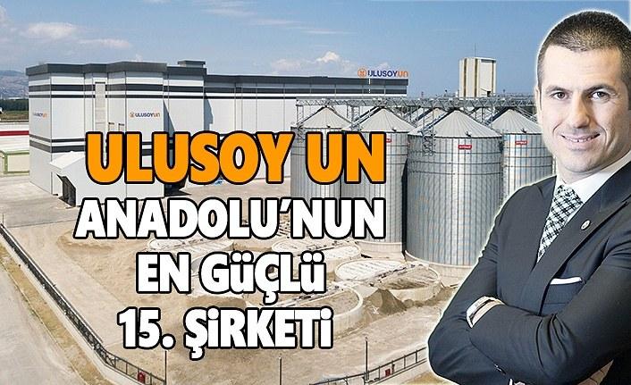 Ulusoy Un, Anadolu'nun en güçlü 15. şirketi