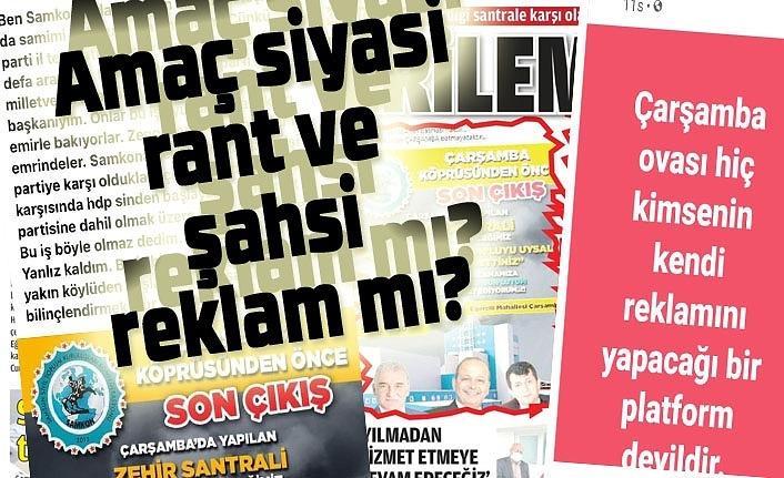 Biokütle Elektrik Tesisi'ne karşı yapılan provokasyonlar da amaç siyasi rant ve şahsi reklam mı?