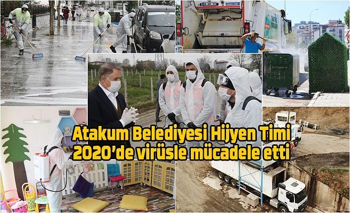 Atakum Belediyesi Hijyen Timi iş başında