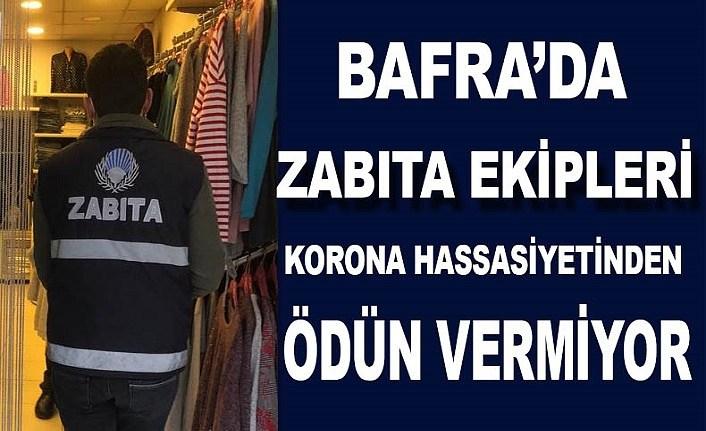 Bafra Belediyesi Zabıtasından korona hassasiyeti