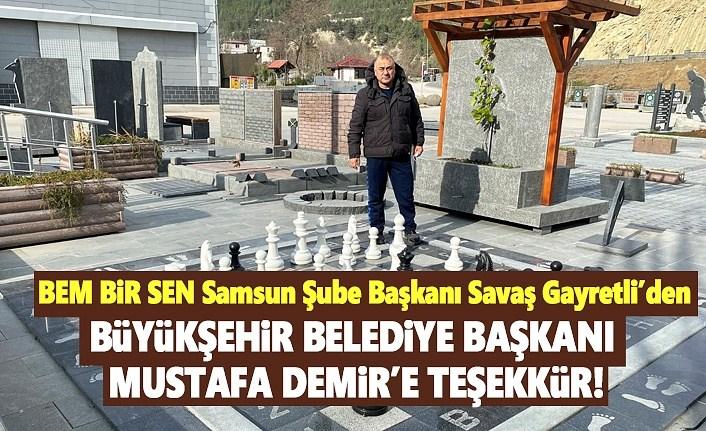 Başkan Gayretli'den Mustafa Demir'e Teşekkür