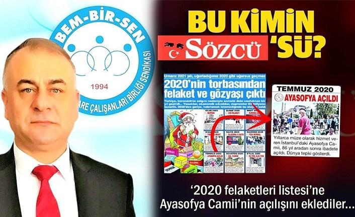 Başkan Gayretli'den Sözcü Gazetesi'ne tepki