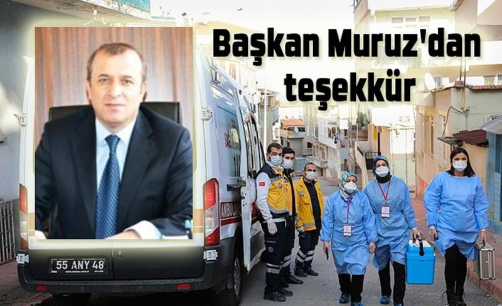 Başkan Muruz'dan teşekkür