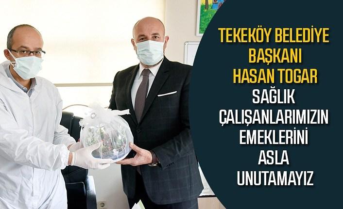 Başkan Togar'dan sağlık çalışanlarına teşekkür