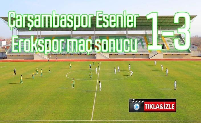 Çarşambaspor Esenler Erokspor maç sonucu ve sonrası açıklamalar