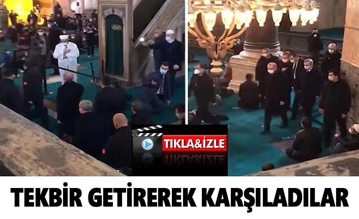 Cumhurbaşkanı Erdoğan tekbirlerle karşılandı, Erdoğan Ayasofya Cuma Namazı
