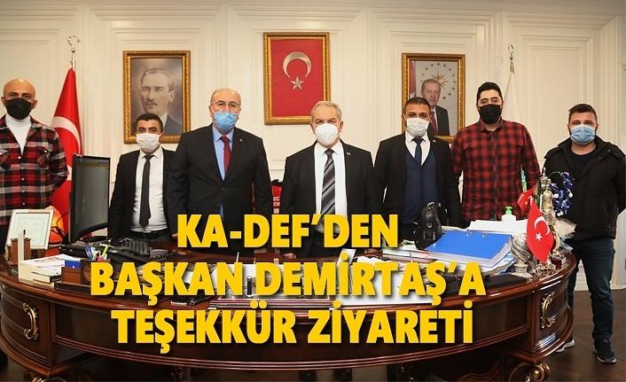 KA-DEF'ten Başkan Demirtaş'a teşekkür ziyareti