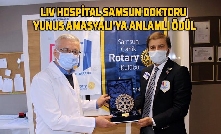 Liv Hospital Samsun Doktoru Yunus Amasyalı'ya anlamlı ödül