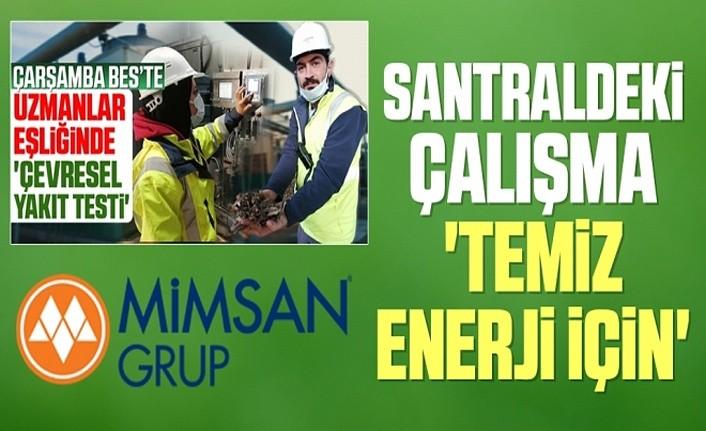 Mimsan'dan Çarşamba Biyokütle Enerji Santrali açıklaması
