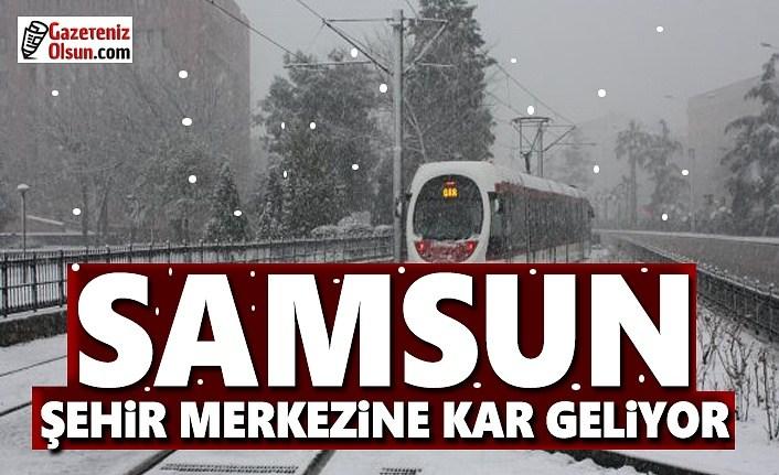Samsun'a kar geliyor , Samsun Merkeze yılın ilk karı yağacak
