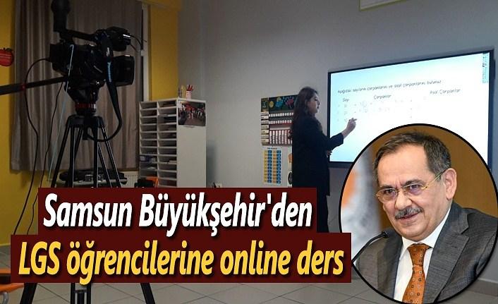 Samsun Büyükşehir'den LGS öğrencilerine online ders