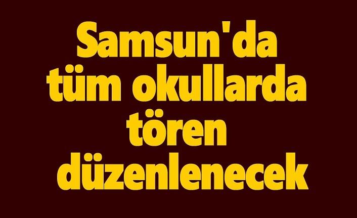 Samsun'da ailelere ve öğrencilere Bayrak Töreni ve İstiklal Marşı çağrısı