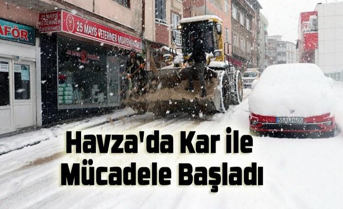 Samsun'da Kar ile Mücadele Başladı