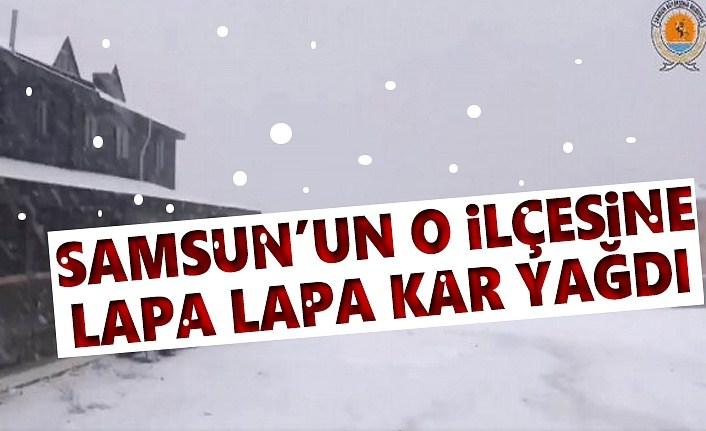 Samsun'da kar sevinci, Samsun'un Ladik İlçesi beyaza büründü
