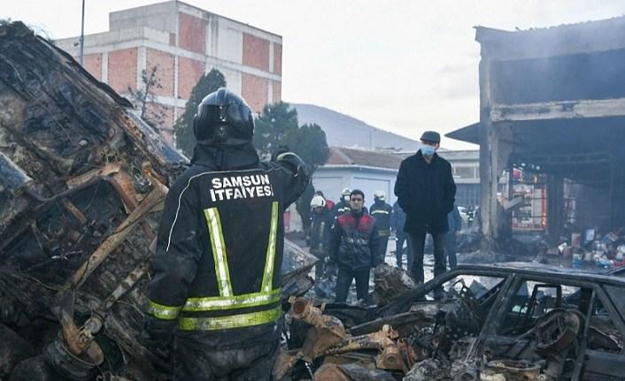 Samsun'daki yangın güçlükle kontrol altına alındı