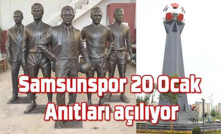 Samsunspor 20 Ocak Anıtları açılıyor, Başkan Yıldırım teşekkür etti