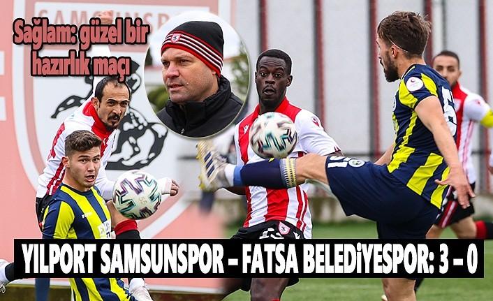 Samsunspor ilk hazırlık maçını yaptı, Sağlam maçı değerlendirdi!